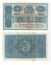 1949 British Linen Bank £20 Banknote - BYB ref: SC235a - VF+.