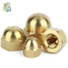 510/20/50Pcs DIN1587 M3 M4 M5 M6 Brass Cap Hex Nuts Decorative Dome Head Cover
