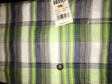 Dakota Grizzly Men's Cody 100% Cotton Short Sleeve Plaid Shirt NWT