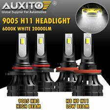 AUXITO Combo H11 9005 Hi Low Beam LED Headlight Conversion Kit Bulb 20000LM G