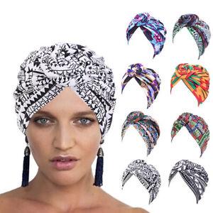 Soft Bonnet Floral Print Cotton Beanie Turban Hat Headwrap African Turban Cap