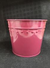 "New Dover M504Bw Burgandy Medium Metal Flower Misc. Tub Can Pail 8.5"" X 7"""