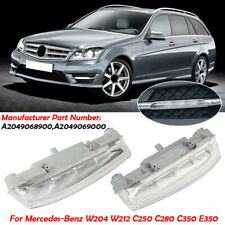 Pair Front Daytime DRL Fog Light Lamp For Mercedes-Benz W204 W212 C250 C280 C350