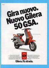 MOTITALIA982-PUBBLICITA'/ADVERTISING-1982- GILERA 50 GSA