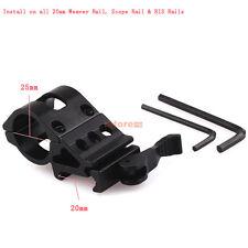 QD 25mm Ring 20mm Weaver Picatinny Rail Mount for Tactical Flashlight Laser