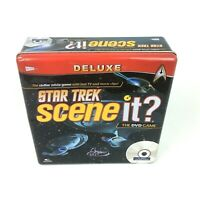 Official Star Trek Scene It Deluxe Edition DVD Board Game Collectable Metal Box