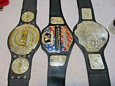 Lot 3 WWE & Other Kids Children's Wrestling Championship Toy Belts Jakks Mattel