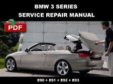 BMW 3 SERIES CABRIOLET E93 2006 - 2010 SERVICE REPAIR WORKSHOP MANUAL
