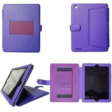 Genuine Leather Case Smart Cover w/ Stand for the New For iPad 4 4th 3/2 Retina