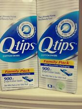 Pack of 2 Q -Tips Cotton Swabs 900 ct. Family Pack  FREE SHIPPING