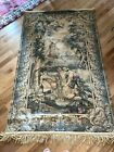 """Antique Belgian Woven TAPESTRY 49.5  x 80"""" , Dutch Farm Scene with Windmill"""