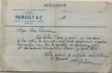Théophile Alexandre STEINLEN - Lettre autographe signée à Léon Vannier