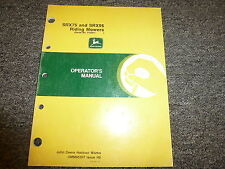 John Deere SRX75 & SRX95 Riding Mower Owner Operator Manual User Guide OMM95307