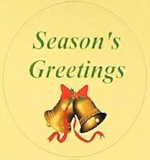 Seasons Greetings with Bells Foil Labels 24 ct. NEW