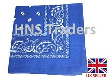 Large BLUE Printed BANDANA / SCARF