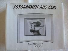 Fotorahmen aus Glas, 10x15 cm, neu