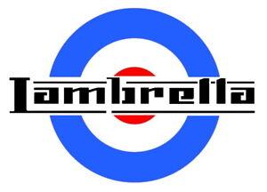high detail airbrush stencil lambretta target FREE UK POSTAGE