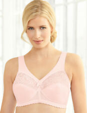 FULL-FIGURE msrp $42~ Bra 50D 50 D Support (WIDE-STRAPS & SIDES) Pink Lace NEW