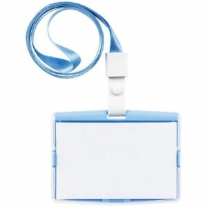J.Burrows ID Holder with Lanyard Landscape - Blue