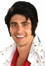 Costumes! Young Elvis Rock N Roll Hero Character Wig Black
