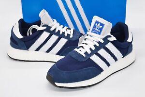 New $140 Adidas Iniki I-5923 W Navy/White BOOST Die Marke Mit Den 3 Streifen 9