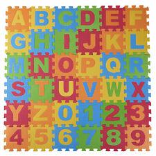 Dimple Baby Foam Play Mat (36-Piece Set) Interlocking Alphabet and Numbers Floor