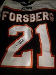 Peter Forsberg Signed Flyers Black CCM XL Jersey Autographed w/tags