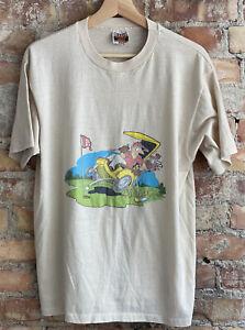Vintage 70s Golf Wang T Shirt Hanes Combed Cotton XL 50/50 Soft Thin Funny USA