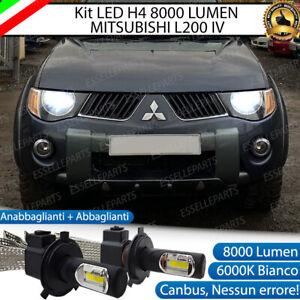 KIT H4 A LED PER MITSUBISHI L200 IV LAMPADE LED H4 6000K XENON BIANCO NO AVARIA