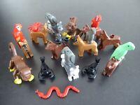 LEGO 5 TIERE - City Zoo Garten Afrika Affe Papagei Schlange Hund Krebs Konvolut