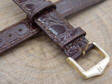 Vintage Watch Band Hirsch 20mm Honey Crocograin Mens Water Resistant New Old Stk