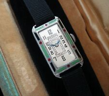 Ladies' Deco Era  Bulova 14k White Gold & Multicolor Enameled Watch - SERVICED
