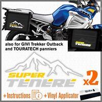 2x Adesivi Bianco Giallo Grigio compatibile con Yamaha XT 1200 Z Super Tenere