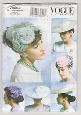 Vogue Sewing Pattern V8052 Vintage Hats - Five Hat Styles from 1950's