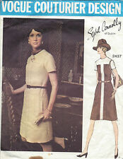 1960s Vintage VOGUE Sewing Pattern DRESS B38 (1157) By 'Sybil Connolly'