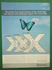 10/2006 PUB ROLLS-ROYCE TRENT XWB ENGINE PAPILLON BUTTERFLY AIRBUS A350 XWB AD