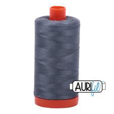 Aurifil 50wt Cotton Thread, 1422yds/1300Mt, Dark Grey, 1246