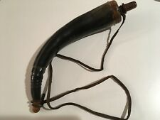 """Early American Frontier Style Black Powder Horn 14"""" Wall Decoration"""
