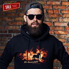 SALE Bullmastiff Feuer und Flamme Sweatshirt Unisex Hoodie L Hundemotiv