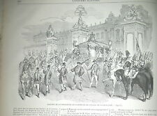 PRINCESSE DE DANEMARK AU PALAIS DE BUCKINGHAM HERAUTS GRAVURES 1863