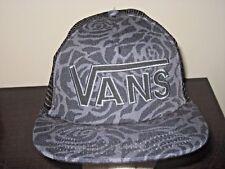 Vans Shoes Drop V Black Grey Floral Trucker Snapback Hat Cap Free Ship NWT
