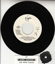 "JANET JACKSON If & One More Chance 7"" 45 rpm record + juke box title strip RARE!"