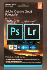 Adobe Creative Cloud Foto Photoshop / Lightroom CC 20GB 1 Jahr Abo Box OVP NEU