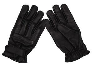 MFH Lederhandschuhe Defender mit Quarzsand Handschuhe Security Schwarz S-XXL