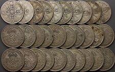 Pre 1947 King George V&VI Florin silver coins scrap bullion 30 coins