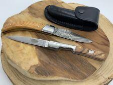 Lot de 2 couteaux Corsica pittuda  lame damas et couteau vendetta manche acacia