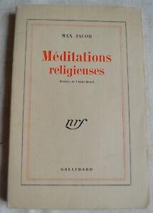 Méditations religieuses  Max Jacob Préface de l'abbé Morel nrf Gallimard 1947