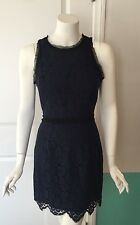 Milly Navy And Black Lace Sleeveless Dress Size 4