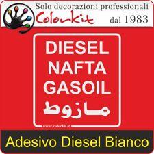 Adesivo Diesel Bianco su Sfondo Trasparente cm. 10x11 - 000330 by Colorkit