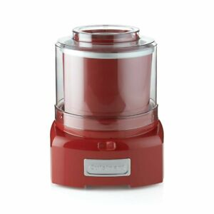 Cuisinart Ice Cream Maker Red 1.5 Qt. 20 Minute No Ice Needed Home Made ICE-21